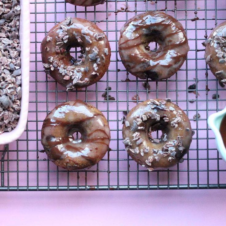 Paleo Choc Cherry Glazed Donuts!!...
