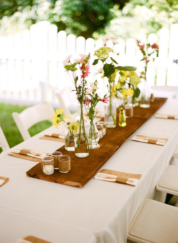 Best ideas about rectangle table centerpieces on