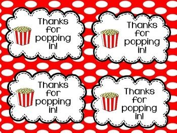 Astounding image regarding thanks for popping in free printable