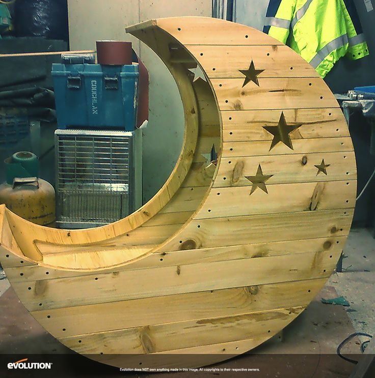 Moon Shaped Crib Made with Evolution Power Tools