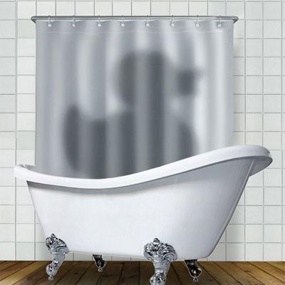 """Шторка для ванной """"Утка чистит пёрышки""""/Intriguing shower curtain"""