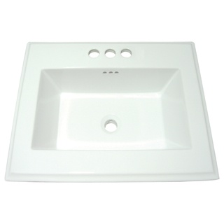 your bathroom with this white bath sink. This surface mount sink ...