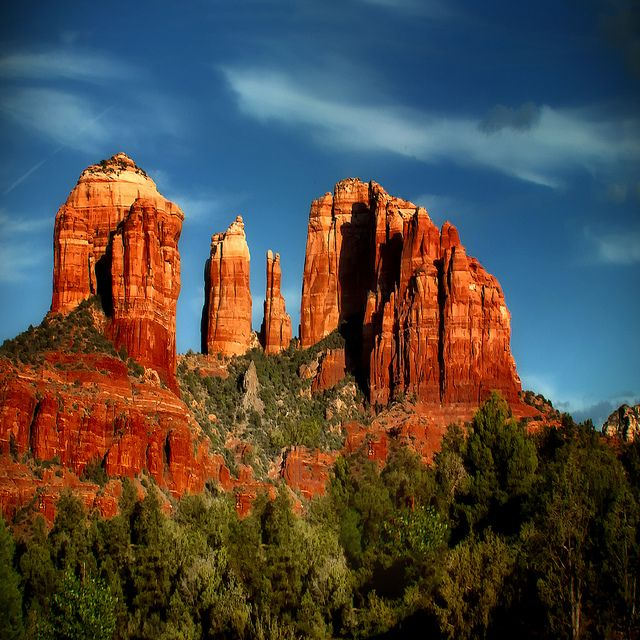 Cathedral Rock, Sedona, Arizona One of my top 3 hikes!  It is a very difficult .7 mile hike (one-way) but sooooo worth every grueling step.