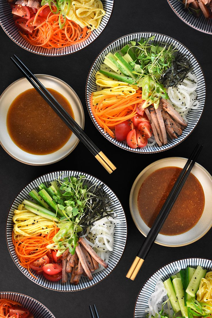 This veggie-packed, Whole30-friendly version ofhiyashi chūka uses spiralized and blanched daikon noodles in place of cold ramen