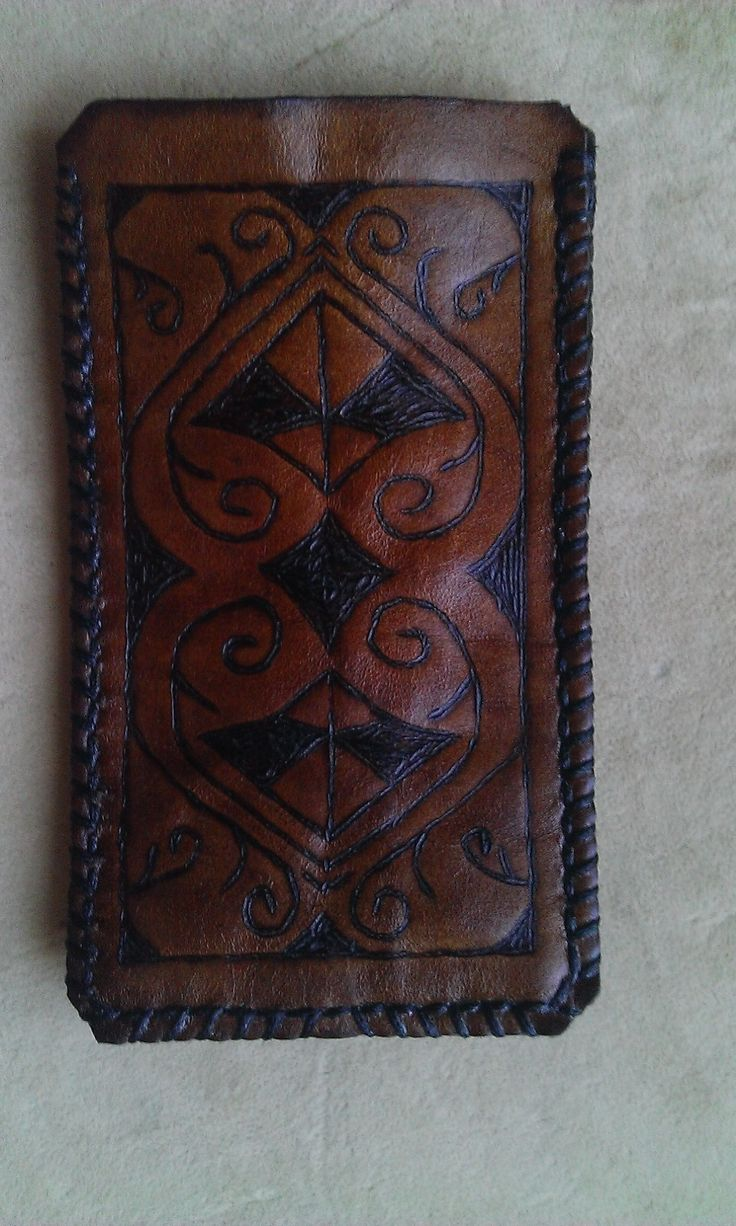 CONTEMPORARY Leather smartphone holder.