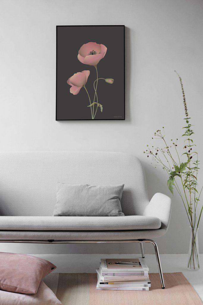 Vissevasse POPPY noir poster