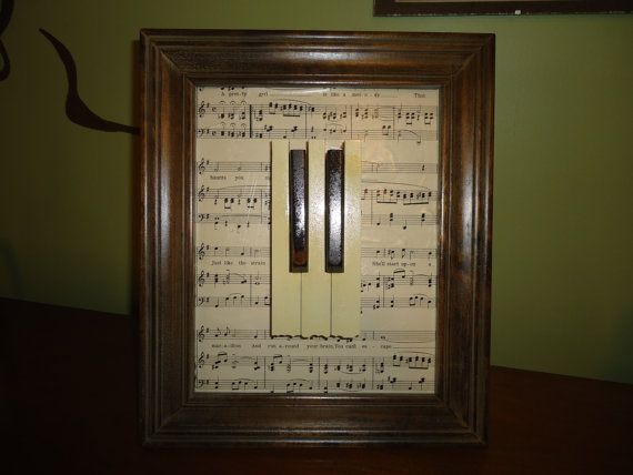 Recycled Piano Keys... I could do this with the autographed keys on our present piano should we ever buy a new piano...