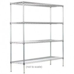 Syncrosteel wire shelving unit 900x450