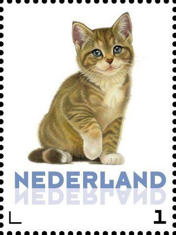 Stamp: Domestic Cat (Felis silvestris catus) (Netherlands - Personalized stamps) (Cats, Francine van Westering) Col:NL 2015-260