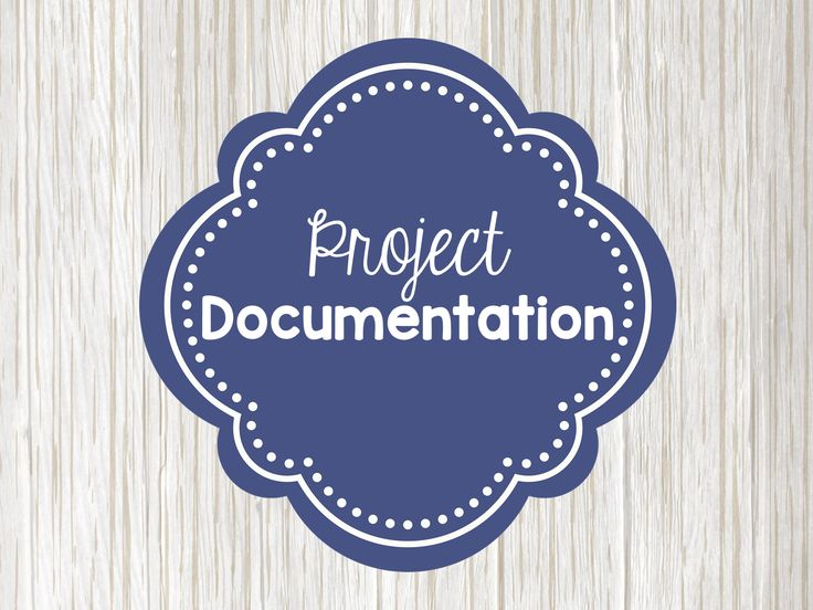 how to make documentation of project