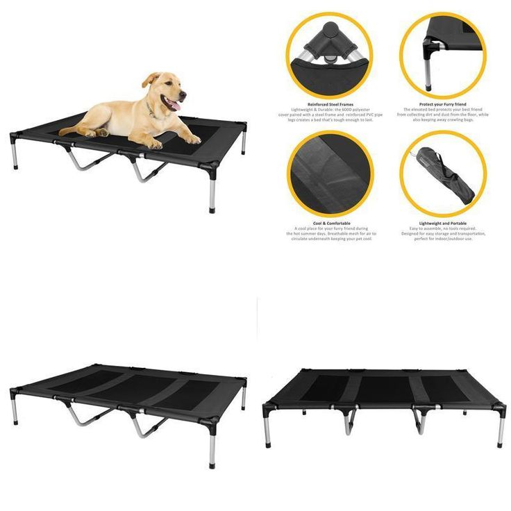 Dog Bed Pet Elevated Wooden Frame Plaid Canvas Extra Large 25X47 Natural Plywood #KOPEKS ,#Christmas,#tree,#decor,#Santa,#xmas,#decoration,#inflatable,#holiday,#party,#sandaclaus,#yard,#garden,#patio,#accessories