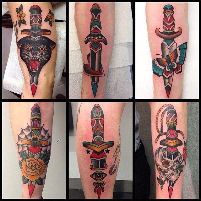 Traditional Daggers, Andrea Furci tattoo