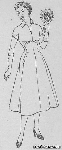 Платье с фигурным клином и карманами