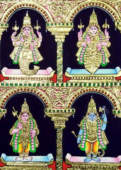 Dhasavatharam Tanjore Painting by Chola Impressions | Chola Impressions - Exquisite Tanjore Paintings, Indian Handicrafts & more