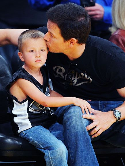 Mark Wahlberg and his son