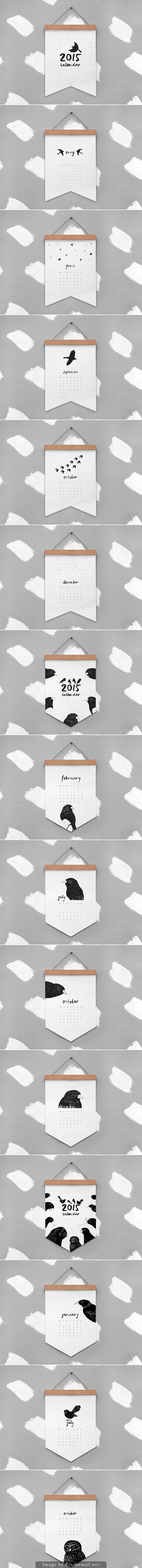 2015 #calendar by melissa boardman with cute bird illustrations