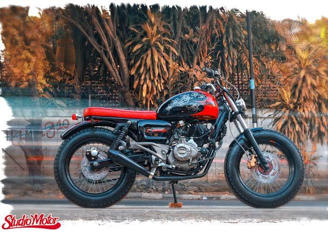 Bajaj Pulsar 220 Brat Style by Studio Motor #motorcycles #bratstyle #motos | caferacerpasion.com