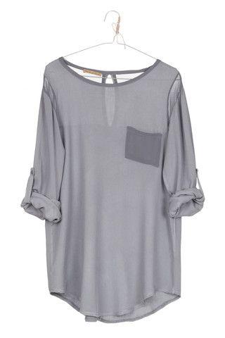 Blusa MARAIS gris. Disponible en mas colores