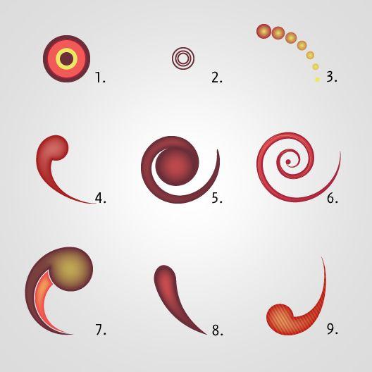 How to create funny swirls in Illustrator
