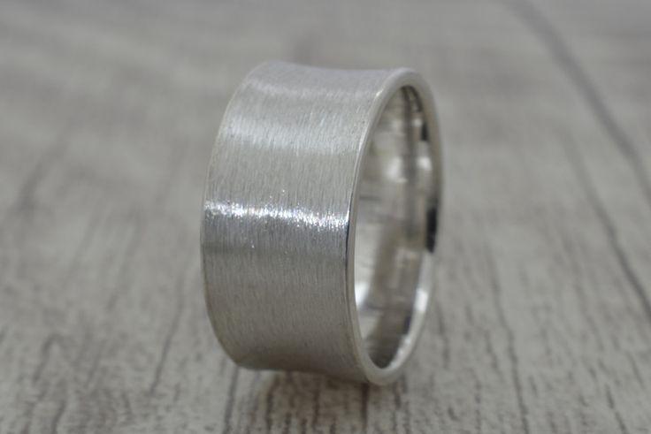 Bandringe -  Bandring aus 925 Sterling Silber (10mm Breite) - ein Designerstück von Volodymyr-Batih bei DaWanda