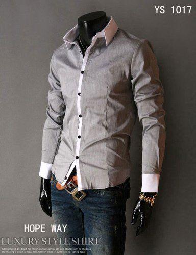 Mens Shirts Sale Mens Gray Shirts Mens Dress Clothing Fashion Shirts for Men