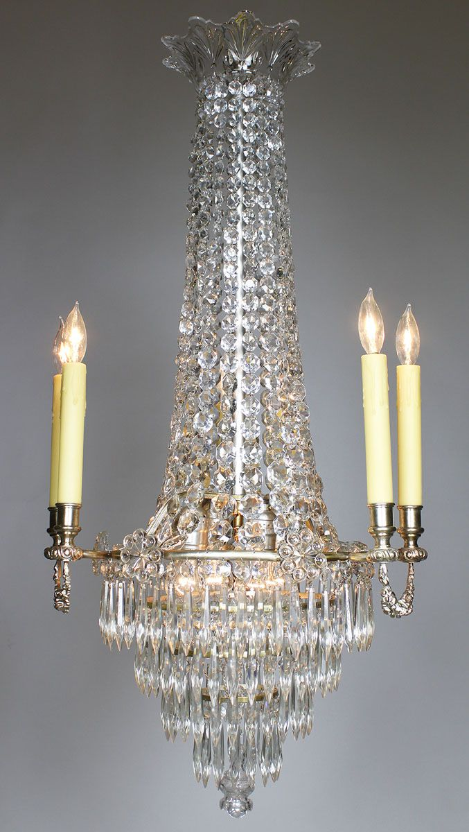 433 best antiques images on pinterest 19th century china and a fine french 19th 20th century louis xvi style silvered bronze and cut glass crystal ten light chandelier in the manner of baccarat arubaitofo Gallery