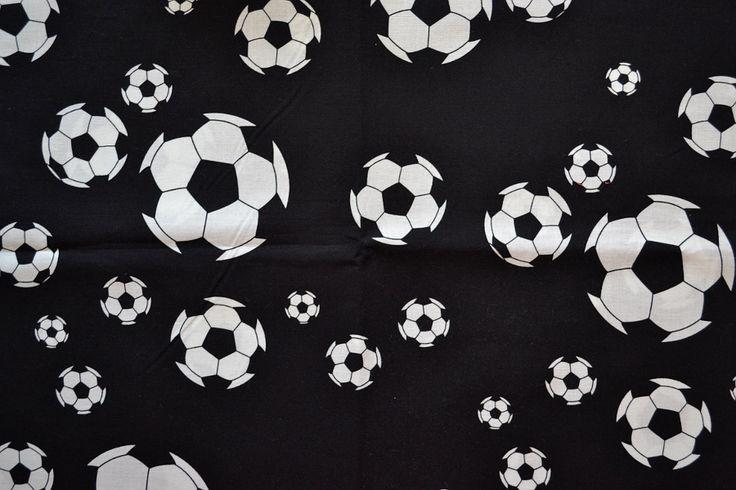 Baumwollstoff   Fußball   www.feendesign-shop.de