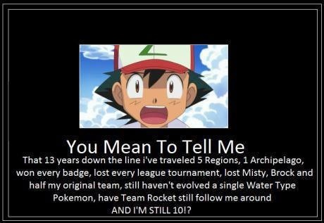 He evolved krabby so it's not quite accurate but still that's ridiculous. #Ashproblems #pokemon #funny