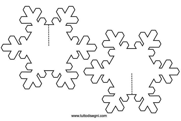 Decorazioni inverno - Realizzare un fiocco di neve 3D - Tutto Disegni