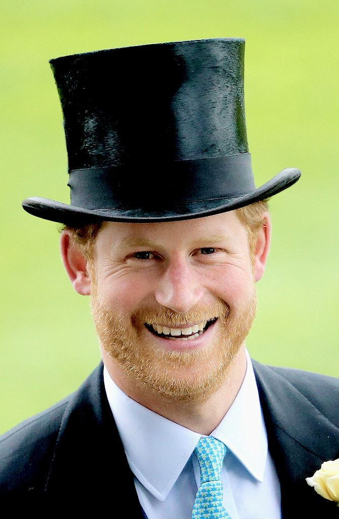 Adorable Prince Harry rocking a top hat.