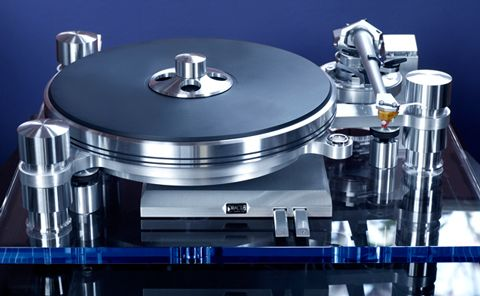 Oracle Audio Delphi MK VI - cost-no-object turntable rendered as an objet d'art