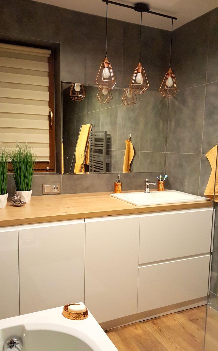 Nowoczesna łazienka Agnieszki z industrialnym akcentem