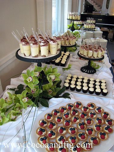 Completed Miniature Dessert Buffet by cocoa & fig, via Flickr