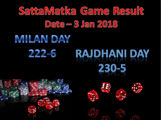 SATTA MATKA DAILY UPDATES date- 3 Jan 2018 #satta #matka #sattaking #milan and #RajdhaniDay open just check http://sattaking143.mobi/