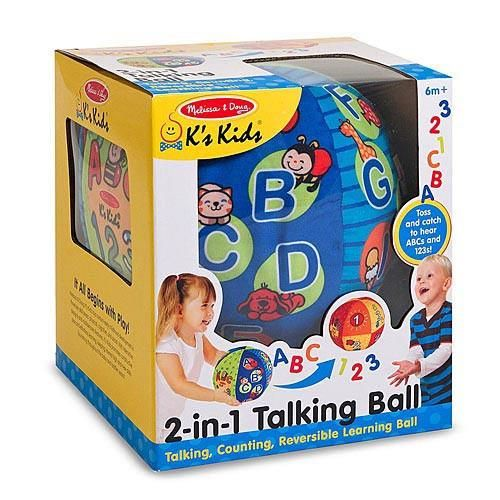 Toss it back and forth to hear this amazing ball say the ABCs or count to 10 Just flip a switch to select the mode you prefer then turn the reversible fabric panels to highlight counting quantities alphabet artwork and bright colors and patterns. Designed to delight kids of any age the pleasantly noisy ball is perfect for indoor tossing catching kicking and rolling helping babies toddlers and preschoolers develop gross motor skills as they play. The layered graphics also offer lots of detail…