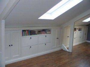 Mooie kastenwand voor op zolder