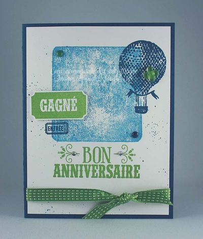 Carte Collage montgolfiere bon anniversaire