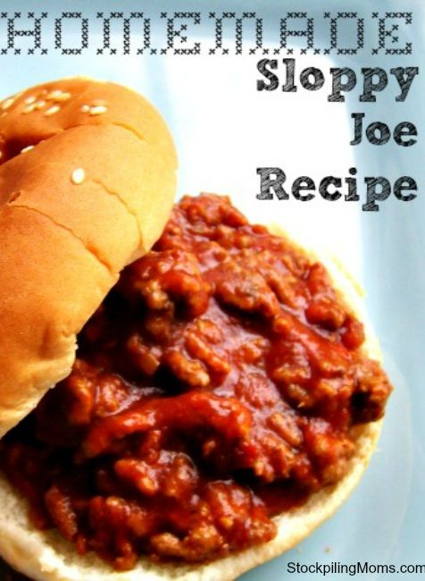 Make this homemade Sloppy Joe recipe a weeknight dinner staple.