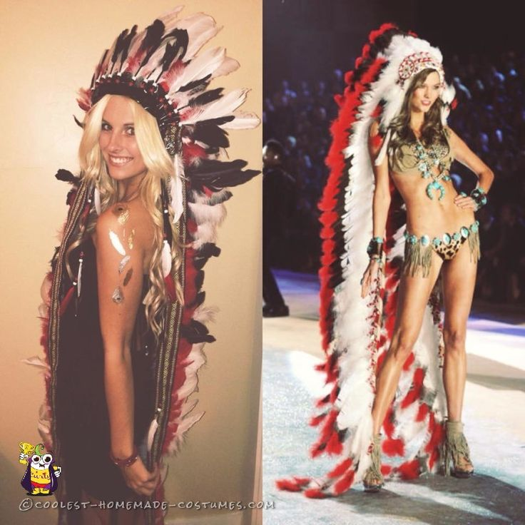 Sexy Indian Costume With Headdress