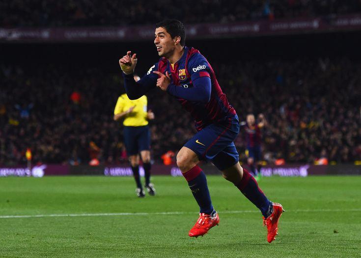 Luis Suarez Celebration 2015