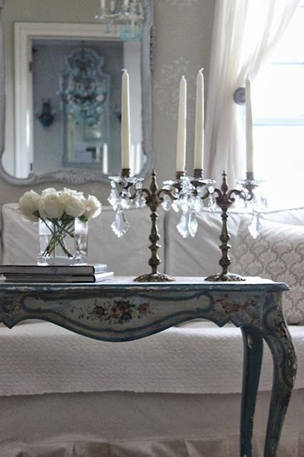 Simple Elegance with French Inspiration! Decor ideas for a coffee table vignette! See thefrenchinspiredroom.com