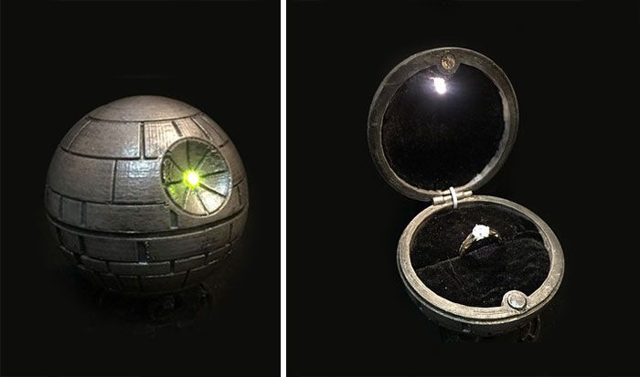 20 Geeky Engagement Rings & Boxes That Will Help You Win Over Any Geeky Girls Heart
