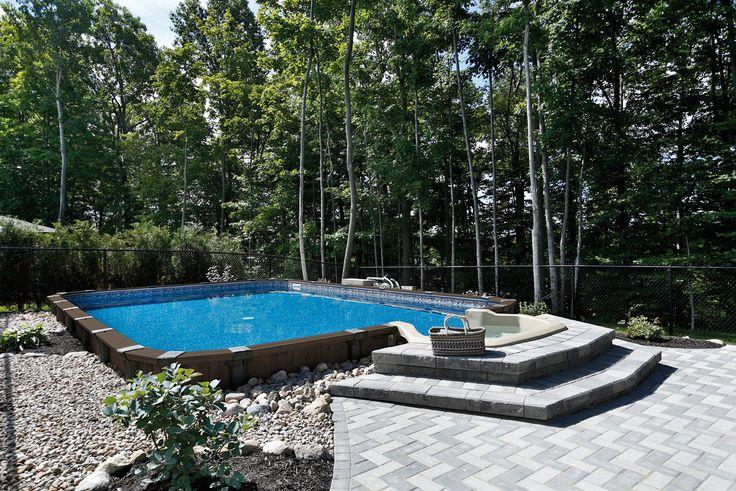 Cette piscine pr sente tous les avantages du c dre rouge for Algues rouges piscine