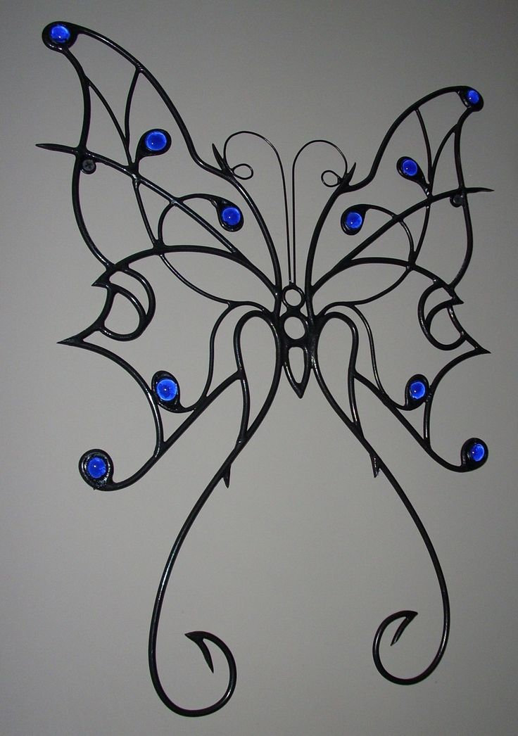 Metal Butterfly Wall Art Sculpture:metal art,insects,American made,metal sculpture,steel art. $45.00, via Etsy.