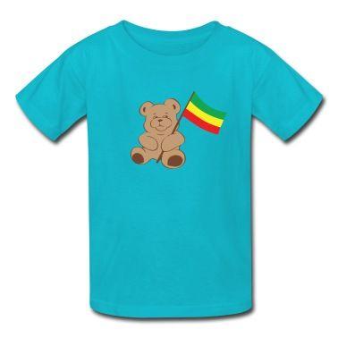 Ethiopian flag, baby, bear T-Shirt | Spreadshirt | ID: 9497624