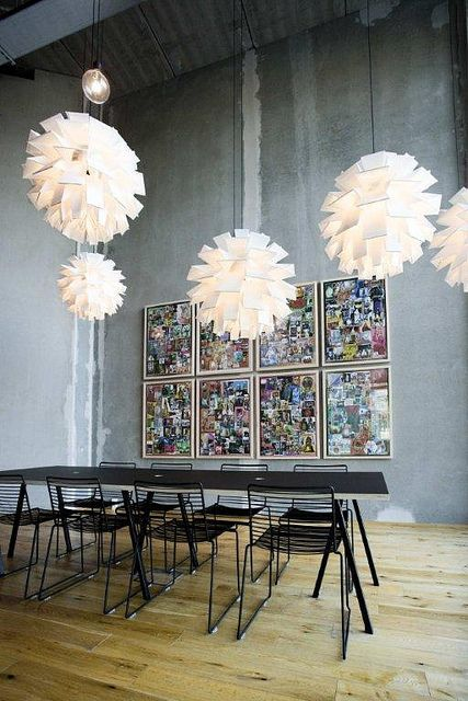 Norm 69 lamps in XXL size |chairs + TABLE HAY http://decdesignecasa.blogspot.it