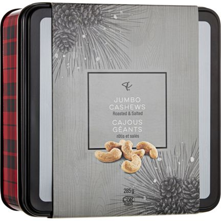 Who doesn't love a gift of delicious nuts? Give him this beautiful box of jumbo cashews.