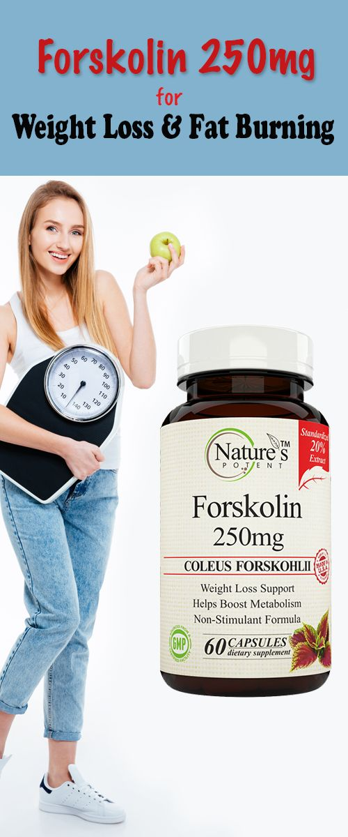 Forskolin 250 mg Supplement for Weight Loss and Fat Burning.
