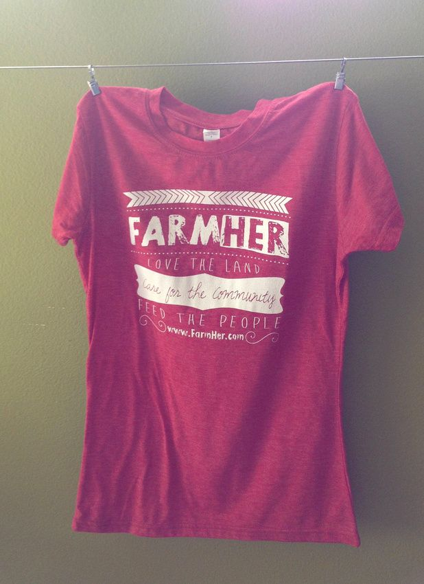 """FarmHer """"Love the Land"""" Heather Red Women's Fitted T-shirt farmer farm ladies agriculture"""