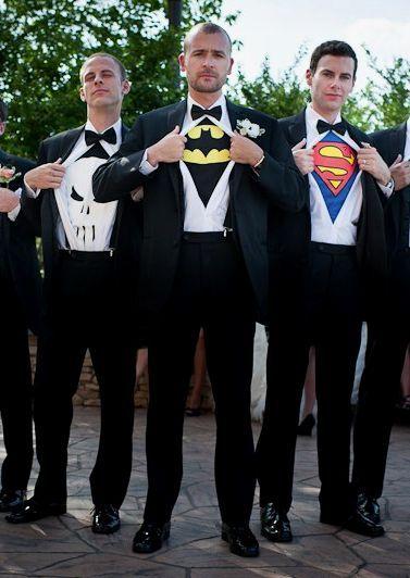 Des super héros en garcons d'honneur !  #B4wedding #wedding #mariage #super #héro #geek